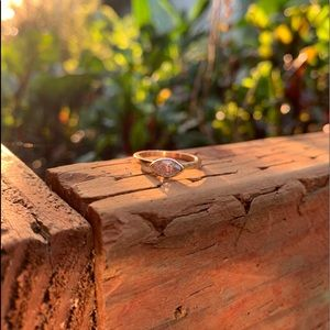 Marquise Crushed Ice Diamond Ring 14kt Rose Gold